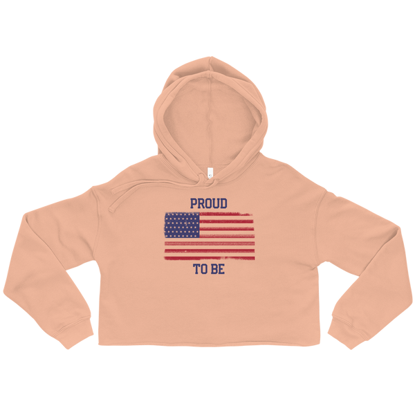 Proud To Be American Crop Hoodie