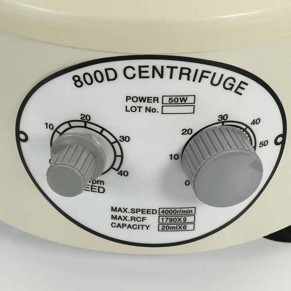 800D Desktop Lab Lower-speed Centrifugal Machine 4000Rpm With 20ml x 6 Capacity  110V US Plug