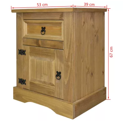 Multifunction 2 Layers Bedside Table Storage Locker Household Bedroom Simple Economic Cabinet