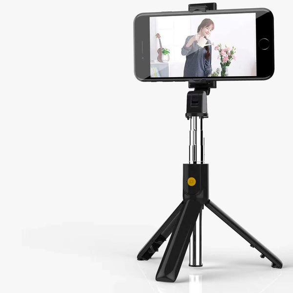 K07 Selfie Stick Remote Control Integrated Tripod Rotate Click Compact Size One Key Compatible With Multi-size Gear Design Clamp Selfie Stick