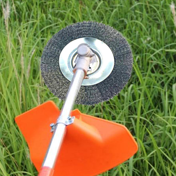 6 Inch Steel Wire Weed Wheel Trimmer Blade Lawn Mower Accessory Grass Trimmer Head