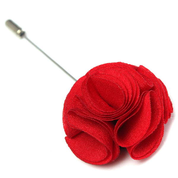 Handmade Fabric Lapel Boutonniere Brooch Pin Men's Accessories 03