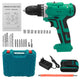 6000mAh 48V Electric Drill Dual Speed Rechargeable Power Tool W/ 1/2pc Battery-US Plug/Two Batteries