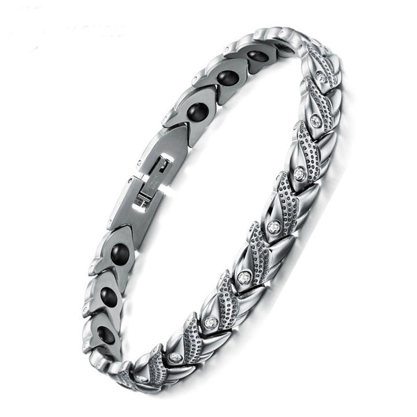 Magnetic Healing Health Women Bracelet Stainless Steel Jewelry