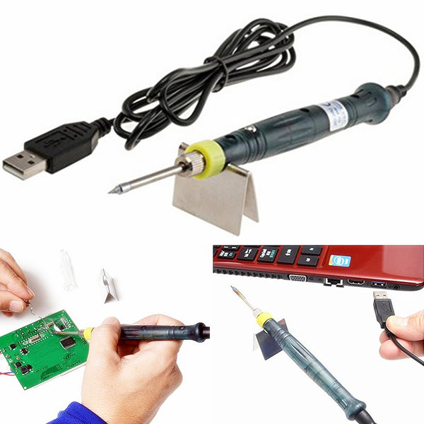 Portable USB Powered 5V 8W Electric Soldering Iron With LED Indicator