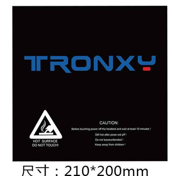 10Pcs TRONXY® 210*200mm Scrub Surface Hot Bed Sticker For 3D Printer