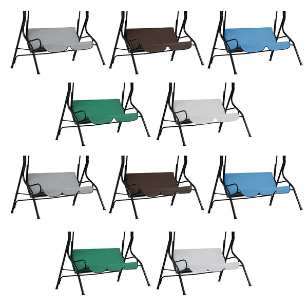 Outdoor Swing Two/Three Seats Cover Rainproof Shade Without Top Cover for Actvities