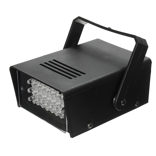 3W 24 LED Stage Light White Halloween Party Effect Lighting Lamp for DJ Club KTV US Plug AC220V