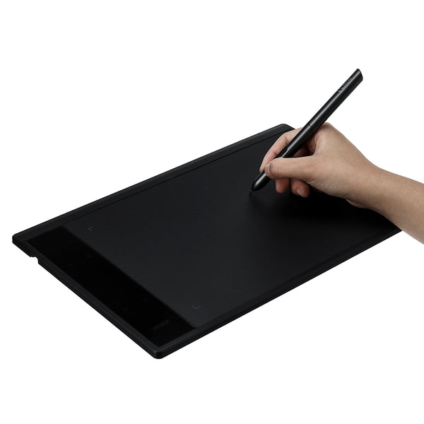 "10"" x 6"" Portable Drawing Tablet 8192 Pressure Sensitivity USB Art Graphics Digital Painting Light Pad with Cordless Battery Pen & Scale for Windows/Mac OS"