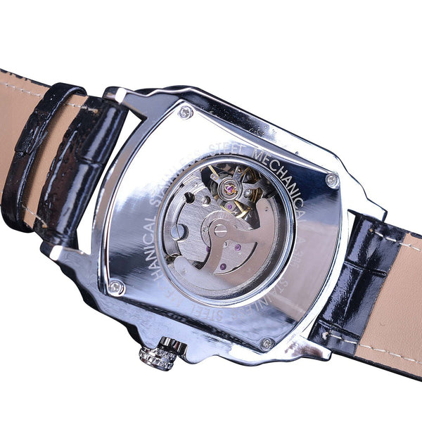 Forsining GMT911 Leather Strap Mechanical Watch NO.3