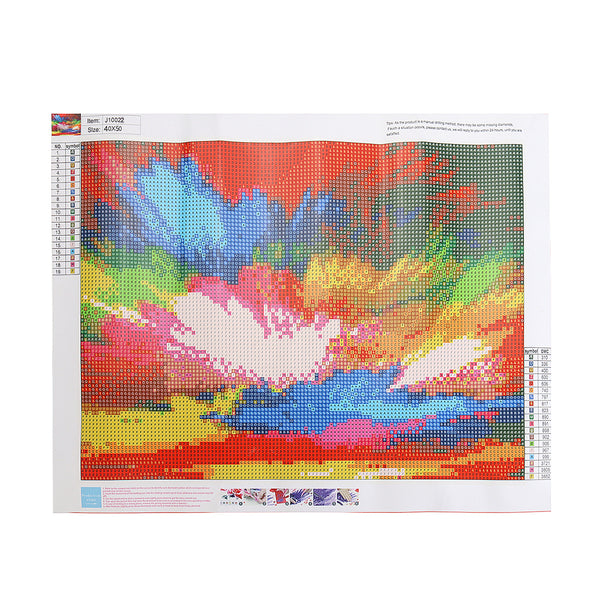 DIY 5D Diamond Painting Rainbow Colorful Clouds Art Craft Embroidery Stitch Kit Handmade Wall Decorations Gifts for Kids Adult