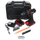 21 V Electric Drill 2 Speed Electric Cordless Drill Driver With Bits Set Batteries-Two Batteries