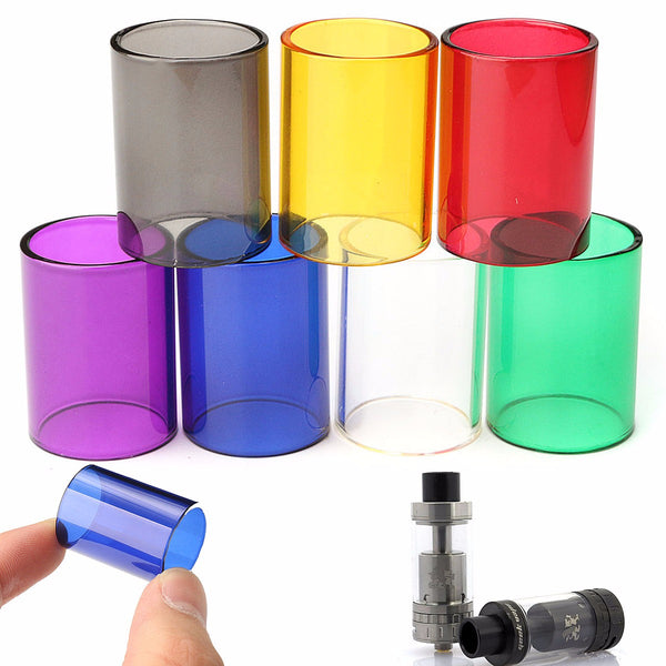 Replacement Transparent Pyrex Glass Tube Cap Tank for GeekVape 22mm RTA 7 Colors  Red