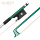 NAOMI 4/4 Carbon Fiber Violin/Fiddle Bow Carbon Fiber Stick Silver Wire Winding And Sheepskin Grip Ebony Durable Use
