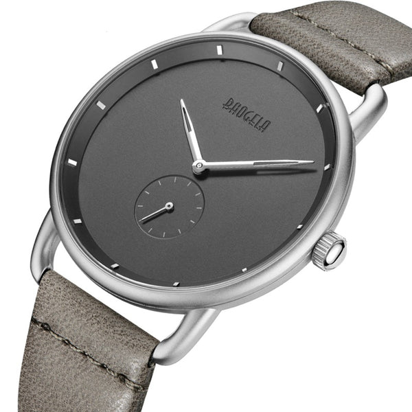 BAOGELA 1806 Ultra Thin Dial Case Business Style Men Watch Gray