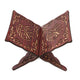 Quran Book Holder Stand Book Reading Shelf Rack Carved Wooden Bookshelf Wine Red