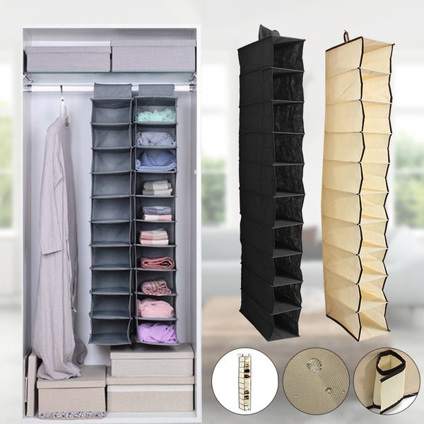 10 Tiers Hanging Rack Bag Cloth Shoes Hanger Organizer Wardrobe Armoires Closet Storage Home Decor