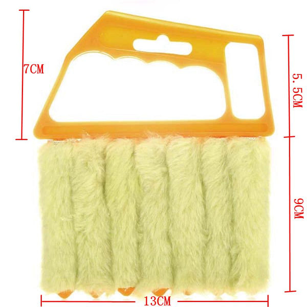 Microfibre Window Shutters Cleaning Brush Vents Clean Air Conditioning Cleaner with 7 Slat Handheld Household Tool