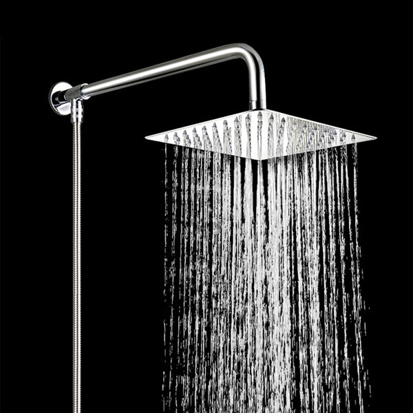 49cm Stainless Steel Wall Shower Head Extension Pipe Long Arm Mounted Bathroom