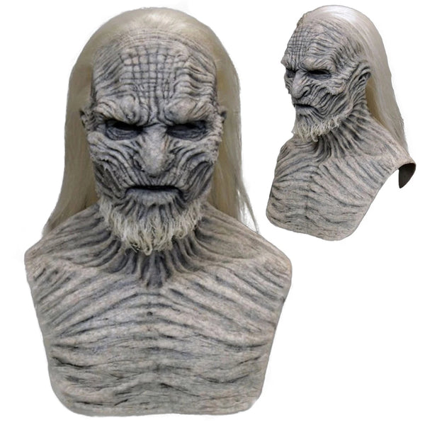 Horror Cosplay Game Zombie Latex Masks With Hair Halloween Party Costume Props #2