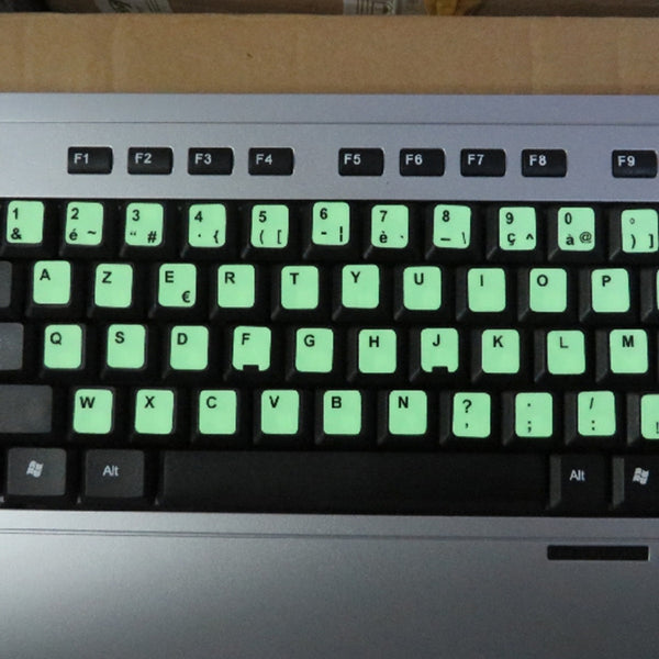 Fluorescent Keyboard Cover Stickers Luminous Waterproof Keyboard Protective Film Japanese