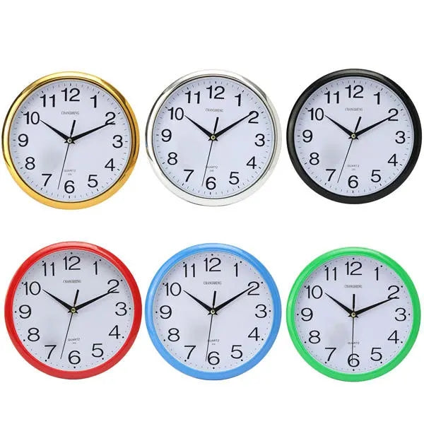 Quartz Large Vintage Round Modern Home Bedroom Retro Time Kitchen Wall Clock