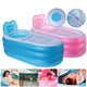 30/150CM Inflatable Bathtub Thicken Insulation Sauna Folding Bath Bucket-Pink/TypeB