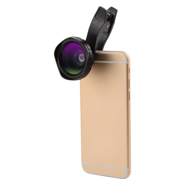 2 in 1 Clip-on Cellphone Camera Lens kit Professional 0.6X HD Wide Angle Lens and 12X Macro Lens for Most Smartphones