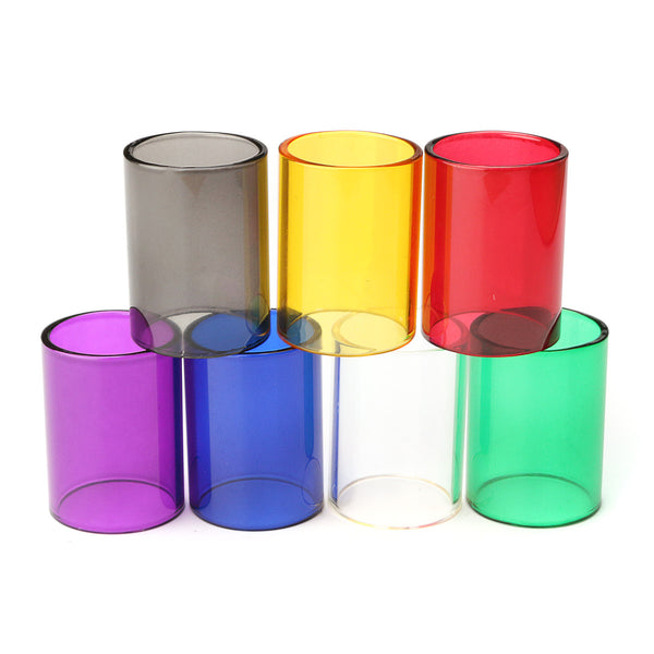 Replacement Transparent Pyrex Glass Tube Cap Tank for GeekVape 22mm RTA 7 Colors White
