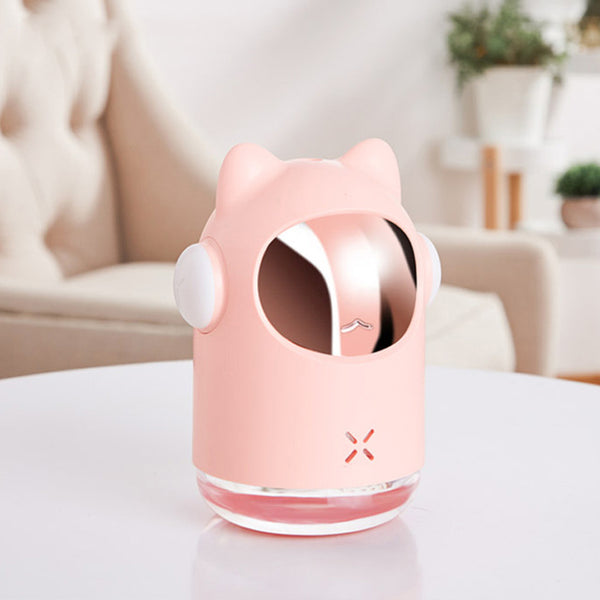 Bakeey 350ml LED Wireless Cute Space Cat Ultrasonic Aroma Essential Oil Diffuser Air Humidifier Mist Maker for Office Bedroom Living Room Gift