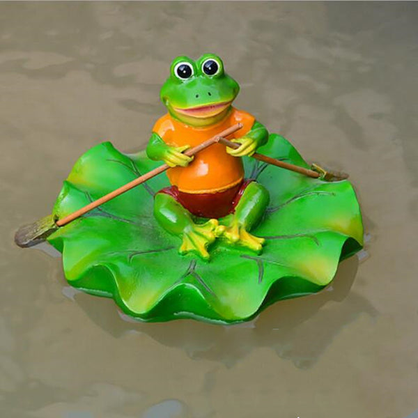 Floating Pond Decor Outdoor Simulation Resin Cute Swimming Pool Lawn Frog Decorations Ornament Garden Art in Water