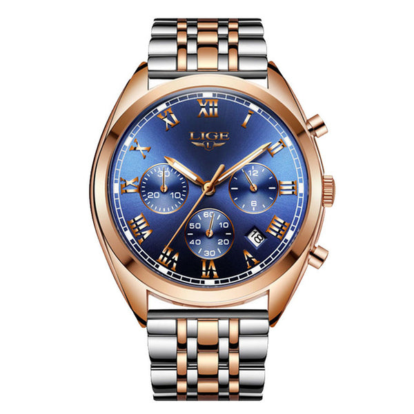 LIGE 9852 24 Hour Date Display Men Wrist Watch NO.5