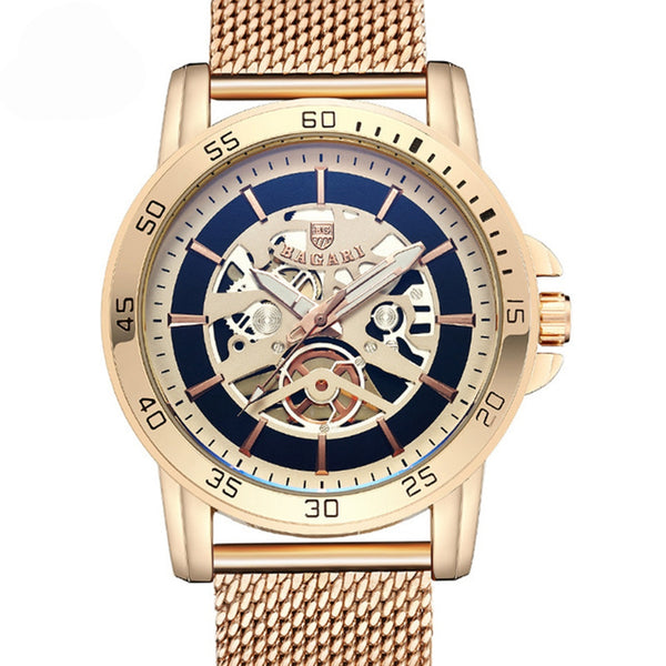 BAGARI 1688 Casual Style Mechanical Appearance Quartz Watch NO.3