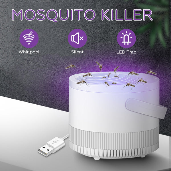Portable USB Electronic Mosquito Insect Killer LED Bug Zapper Catcher Trap Lamp
