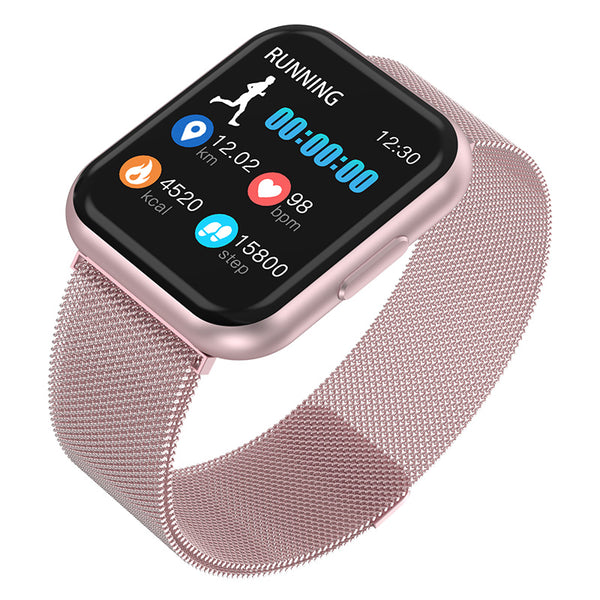 Bakeey T88 1.3inch Full Touch Screen 24h Dymanic Heart Rate Blood Pressure Weather Push Smart Watch