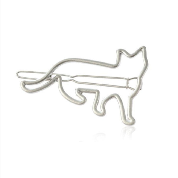 Cute Hair Clip Hollow Metal Animal Irregular Hair Accessorie Gold#1