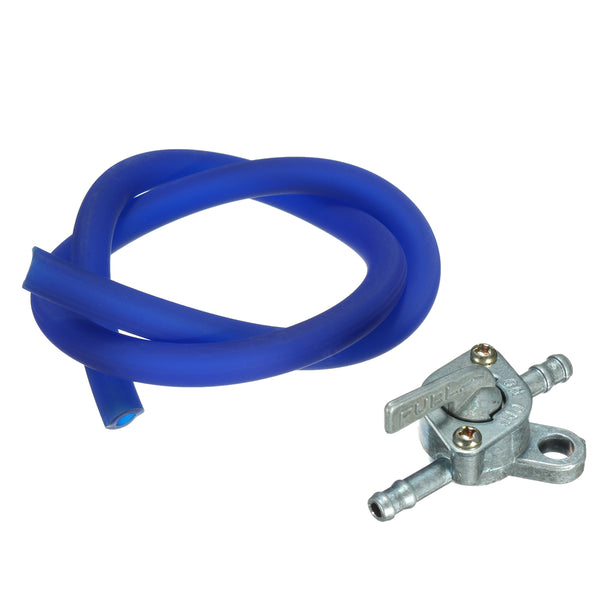 Fuel Tank Switch Petcock Tap With Fuel Line Hose For 49cc 110cc 125cc Pit Dirt Quad Bike ATV Blue