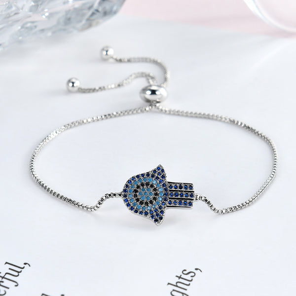 Fashion Colorful Zircon Adjustable Charm Bracelets For Women Rose Gold