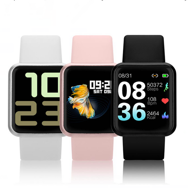 Bakeey P68S 8 Sport Modes Dynamic Heart Rate Blood Pressure O2 Monitor Music Camera Control Weather Update Smart Watch