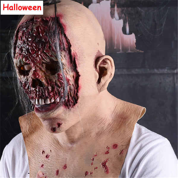 Halloween Realistic Scary Mask Demon for Adult Man Woman Horror Cosplay Props Evil Masks