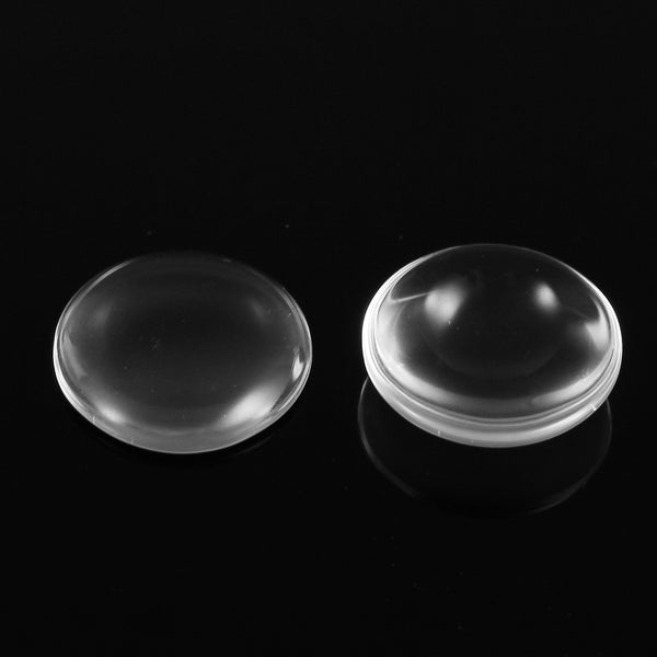 100Pcs Round Clear Glass Dome Cabochon Cameo Flat Back Crystal Magnify Base Cover DIY 15.5mm
