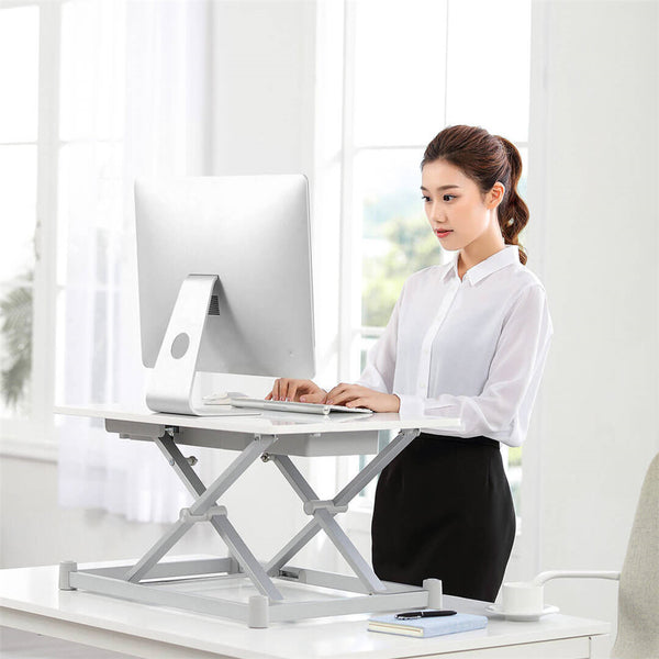 "Leband 28""x19"" Electric Height Adjustable Standing Desk Sit-Stand Desk Laptop Desk App Control memory function"