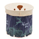 Adult Folding Bathtub Portable Spa Soaking Bathroom Barrel-Navy Blue-TypeA