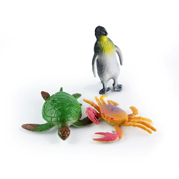 24PCS Plastic Ocean Animals Figure Sea Dolphin Turtle Creatures Model Toys Gift