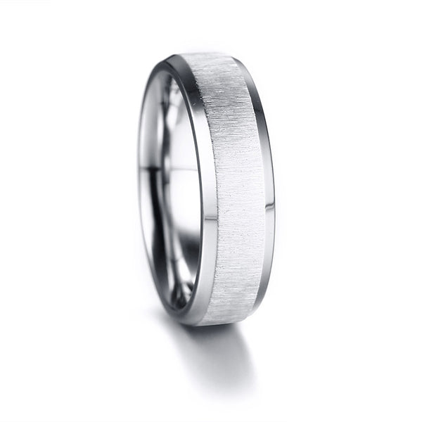 Fashion Stainless Steel Finger Ring 7/Silver