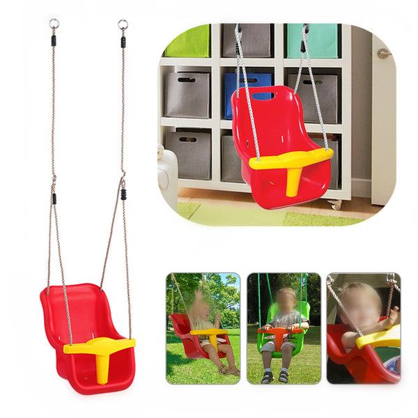 Baby Swing Seat Set Infant to Toddler Secure Detachable Outdoor Play Cradle Garden