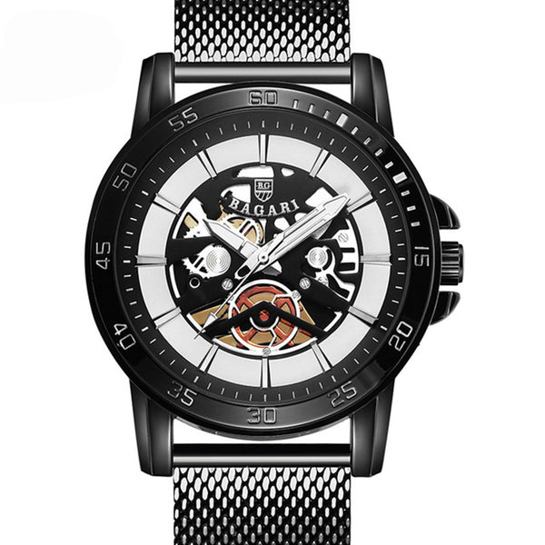 BAGARI 1688 Casual Style Mechanical Appearance Quartz Watch NO.1