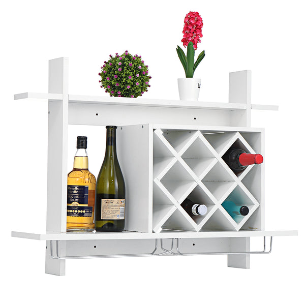 31.5''*23'' Liquor Storage Rack Wall-mounted Rack for Bottles and Glass