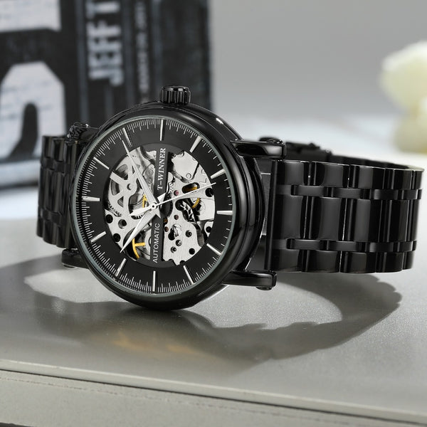 Alloy Fashion Business Automatic Mechanical Watch Gold