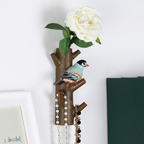 Creative Resin Flower Bird Tree Shape Hook Home Hangers Stand Decoration 2